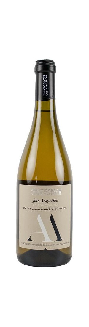 Anatolikos Vineyards AM Fine Assyrtiko-Malagouzia White Wine Organic 750ml (Year of Production: 2017)