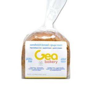 Ψωμί τοστ χωρίς Γλουτένη σε μεγάλες φέτες 450γρ (12 φέτες, 11,5 x 11,5εκ)